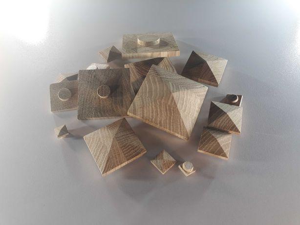 """Заглушка дерев'яна квадратна """"Піраміда"""""""
