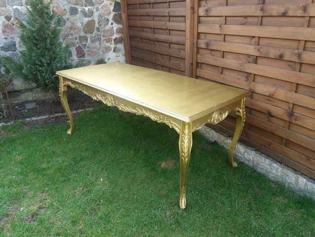 Duży drewniany stół 200x90x84 Ludwik Glamour do odmalowania