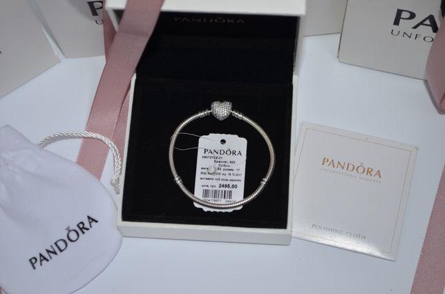 Браслет Pandora S925 серебро Пандора + Упаковка в комплекте