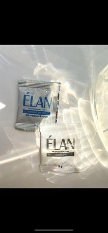 Краска для бровей, фарба для брів Elan + remover, кисточки, щетки