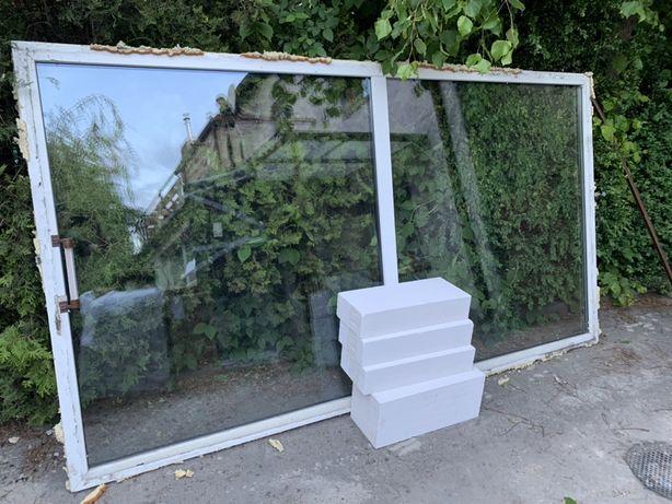 Okno pcv 163x296 wystawowe fix