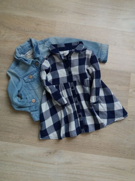 Платье рубашка H&M Carter's Oshkosh ZARA NEXT GAP FF джинсовое сарафан