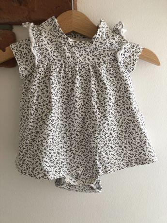 Sukienka noworodek wyprawka 50 body HM