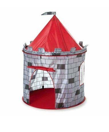 Игровая детская Палатка с окошком для ребёнка - Замок (серый)
