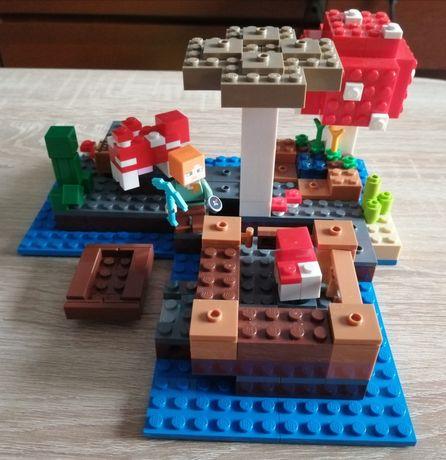 Kompletny LEGO Minecraft 21129 grzybowa wyspa