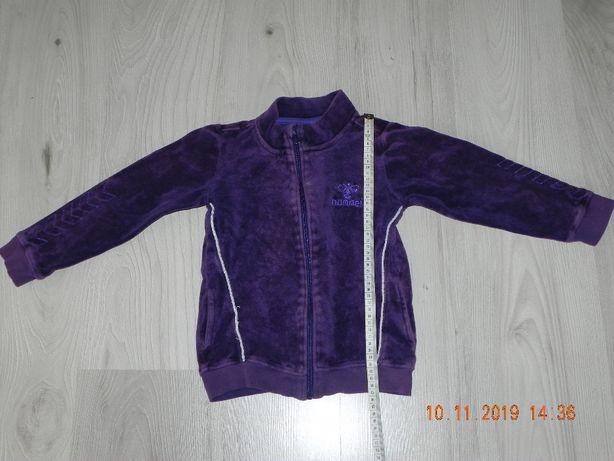 bluza fioletowa 116 hummel