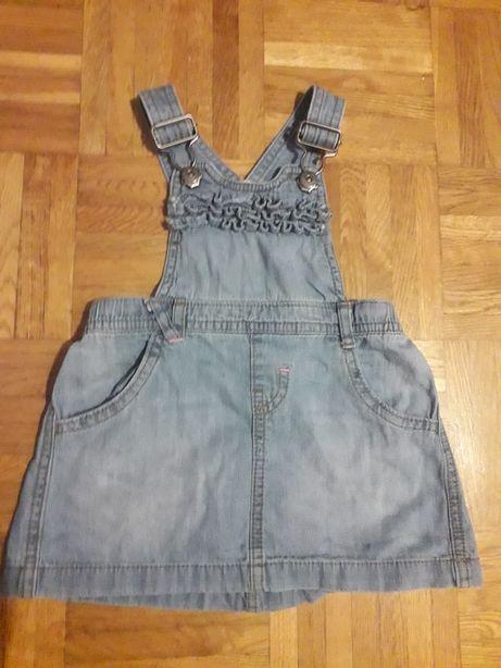 Sukienka jeansowa/ ogrodniczki r. 80
