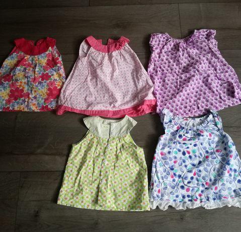 Sukieneczki letnie 6-9 mc(20 zl calosc)