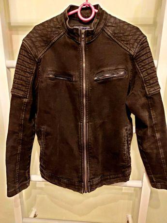 Пиджак джинсовый черный на 14-15 лет