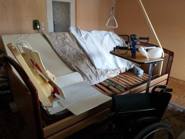 Łóżko rehabilitacyjne, wózek, winda do wanny, stolik, rowerek,materace