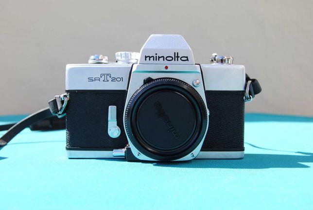 Corpo Minolta SRT 201 Antiga Máquina Fotográfica 35 mm