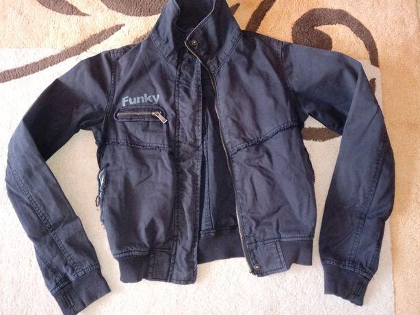 kurtka cienka jeans Ala ramoneska r. xs, s