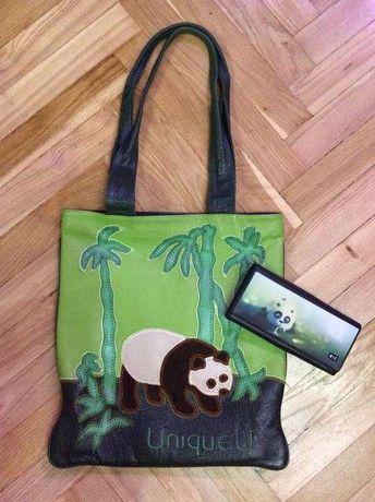 Эксклюзивная кожаная дизайнерская сумка unique u панда Panda