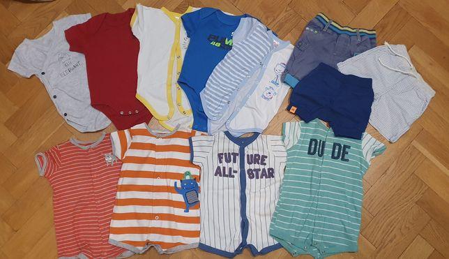 Летняя одежда на мальчика 3-6 м. Carters. Ромперы, бодики, шорты