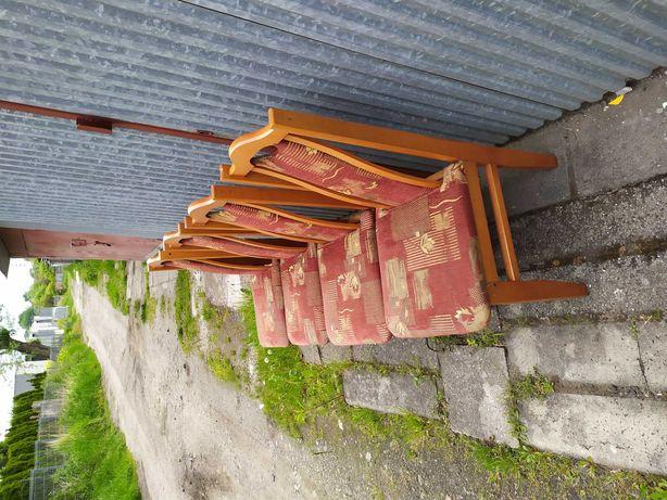 Sprzedam 6 sztuk krzeseł tapicerowanych