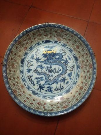 Prato 33cm chinesa antigo
