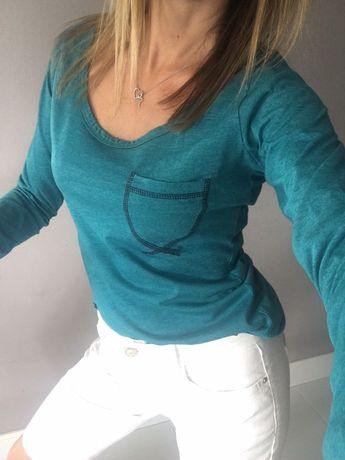 Zestaw Biale krotkie spodenki c&a bluzka lee cooper s/m