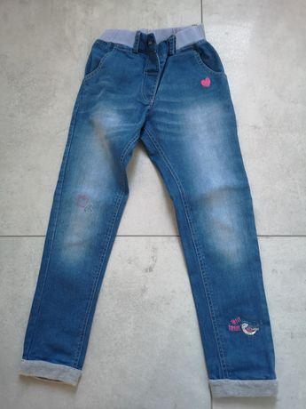 Spodnie dziewczęce 5 10 15 r. 116 dżinsy regulacja