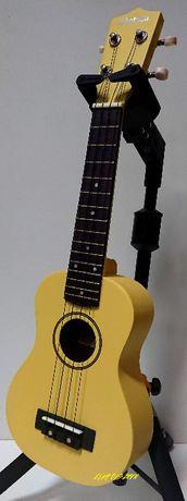 Ukulele Sopranowe Kolorowe Drewniane + Kolorowy Pokrowiec GRATIS Żółty