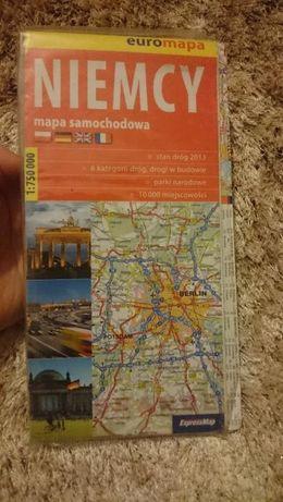 mapa samochodowa NIEMCY euro mapa 2013
