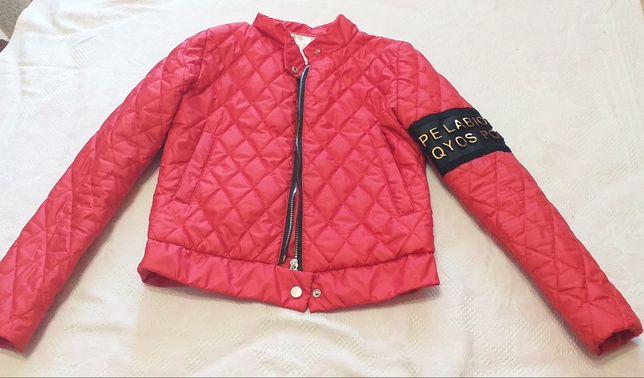 Куртка женская, подростковая, красная курточка