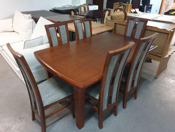 Komplet Stół + 6 Krzeseł Stół Rozkładany do 4.10m