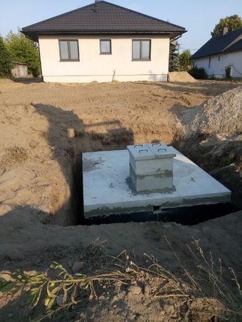 Zbrojony zbiornik szambo betonowego 8000 litrów FV atest