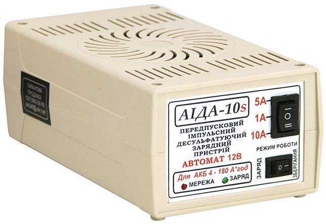 Зарядное устройство Аида-10s (для гелевых и свинцовых аккумуляторов)