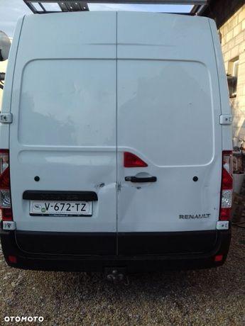 Renault Master 2019 drzwi tylne uszkodzone czysto białe
