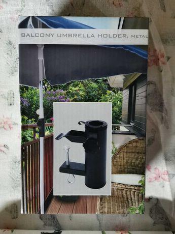 Uchwyt na parasol metalowy na balkon likwidacja sklepu