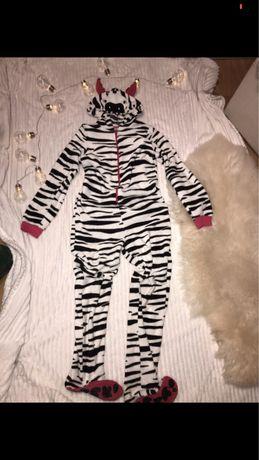 onesie zebra, przebranie, ciepły strój