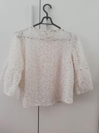 Bluzka azur haft falbany Zara M