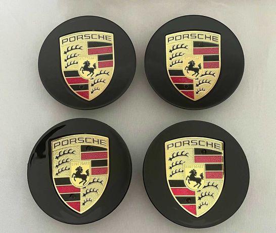 Centros/tampas de jante completos Porsche com 56, 60, 65, 68 e 76 mm
