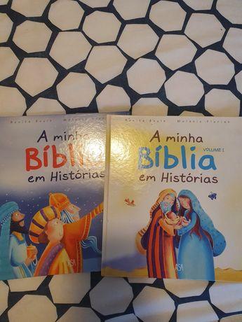 2 Livros infantis - A minha Bíblia em história