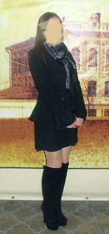 Продам кашемировое пальто с баской