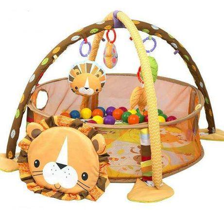 Детский манеж, складной,  новый, игрушки, шары, 0-2 года + толстовка
