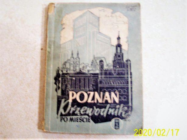 Poznań Przewodnik po mieście mapa z 1949r