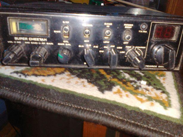 cb radio super cheetah stacja bazowa antena zasilacz dopał zetagi