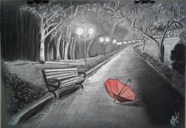 """Картина """"Дыхание ночи"""" А4, в рамке"""