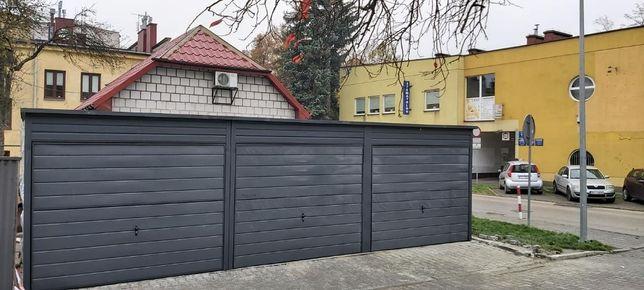 Garaż blaszany 9x6 antracyt grafit mat Nowoczesne Garaże Profil