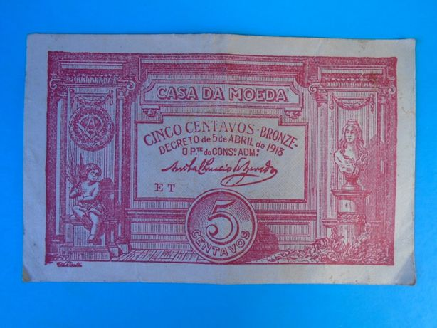 Nota-Cédula 5 Centavos 1918
