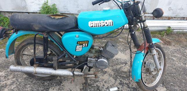 Simson S 51 . Bez prawa rej.