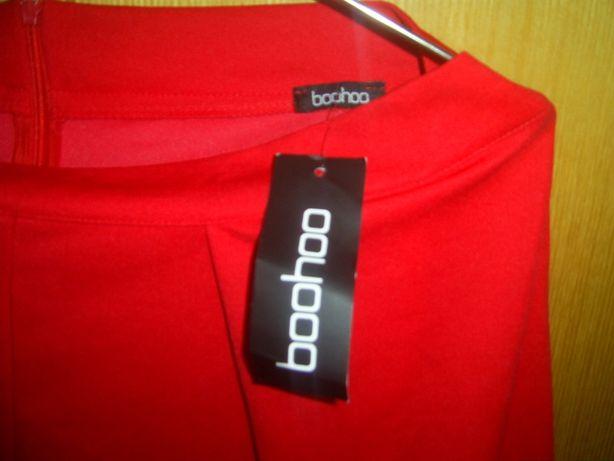 Новые ярко красные брюки кюлоты Boohoo 100% Италия