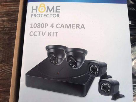 Zestaw kamer do monitoringu 1080p 4 kamery.