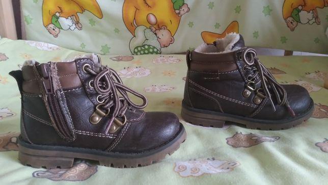 Ботинки на девочку/мальчика 24размер, на холодную осень,демисезонные
