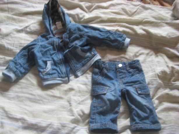 Костюм джинсовый, б/у, на возраст 6 мес.