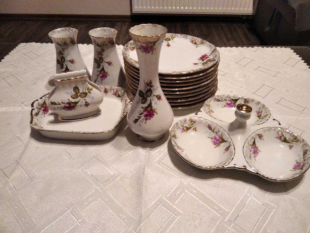 Porcelana Chodzież, Talerzyki, Wazony, Przyprawnik