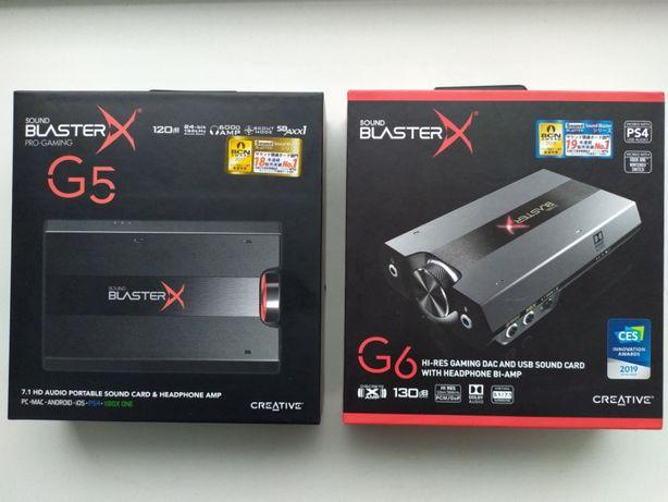Новая внешняя звуковая карта Creative Sound BlasterX G6 (AE-5,G5,E5)