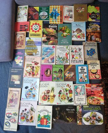 Zestaw 1-książki kucharskie-vintage i współczesne-38sztuk.