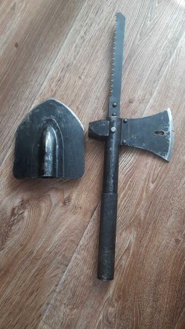 Туристический топор молоток лопата стамеска пила гвоздодер 6 в 1